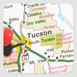 Tucson, Arizona Square Sticker