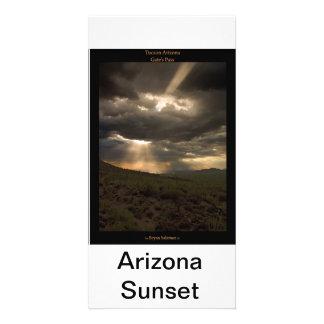 Tucson Arizona Sunset Personalized Photo Card