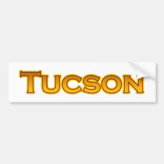 Tucson Arizona Text Logo Bumper Sticker