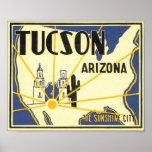 Tucson, Arizona The Sunshine City Poster