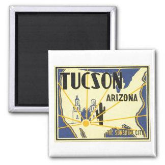 Tucson, Arizona The Sunshine City Square Magnet