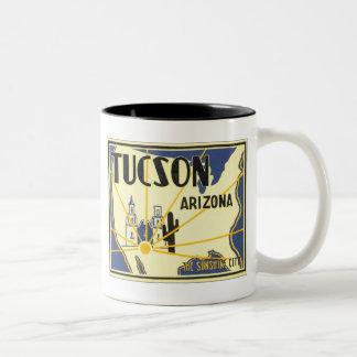 Tucson, Arizona The Sunshine City Two-Tone Coffee Mug