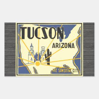 Tucson Arizona The Sunshine City, Vintage Sticker
