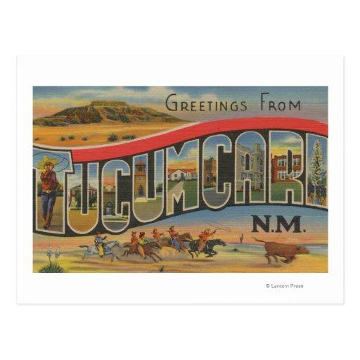 Tucumcari, New Mexico - Large Letter Scenes Postcard