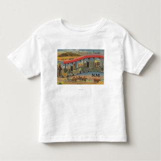 Tucumcari, New Mexico - Large Letter Scenes Toddler T-Shirt