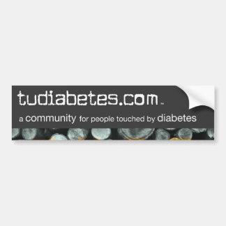 TuDiabetes.com Bumper Sticker |Grey Line|