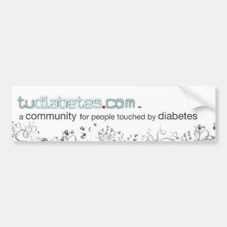 TuDiabetes.com  Color Bumper Sticker |White Line|
