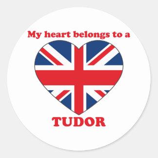 Tudor Classic Round Sticker