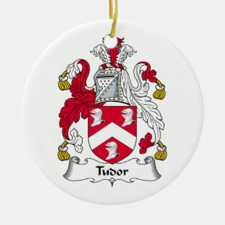 Tudor Family Crest Ceramic Ornament