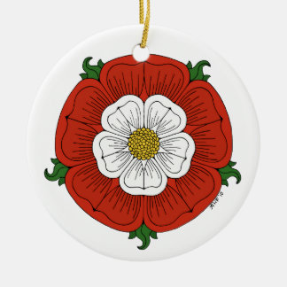 Tudor Rose Ceramic Ornament