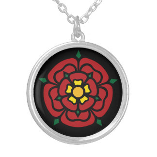 Tudor Rose - English Rose Silver Plated Necklace