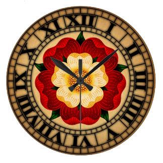 Tudor Rose Large Clock