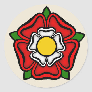 Tudor Rose of England, Emblem of Royalty Classic Round Sticker