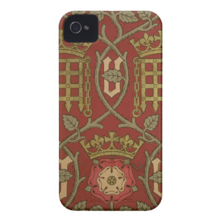 'Tudor Rose', reproduction wallpaper designed by S iPhone 4 Case-Mate Cases