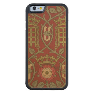 'Tudor Rose', reproduction wallpaper designed by S Maple iPhone 6 Bumper