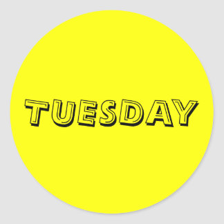 Tuesday Alphabet Soup Yellow Sticker by Janz