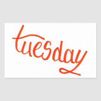 Tuesday Rectangular Sticker