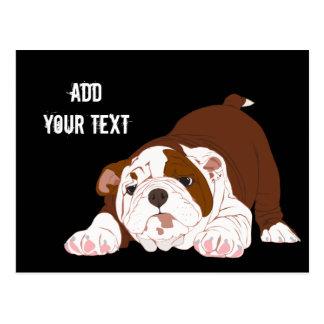 Tuff Pup Playful Bulldog Puppy Postcard