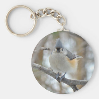Tufted Titmouse (Baeolophus bicolor) Items Key Ring