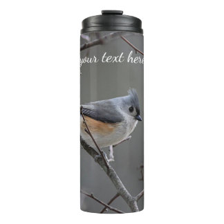 Tufted titmouse thermal tumbler