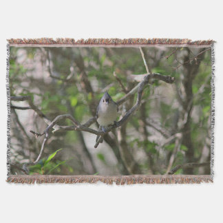 Tufted titmouse throw blanket