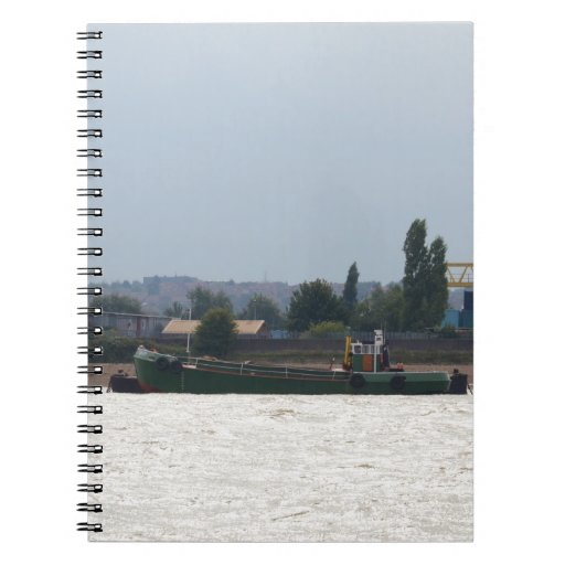 Tug and Dredger Lady Kitty. Spiral Notebooks