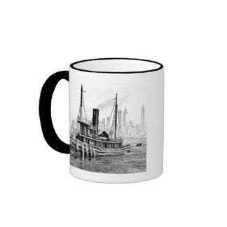 Tug and Skyline Ringer Coffee Mug