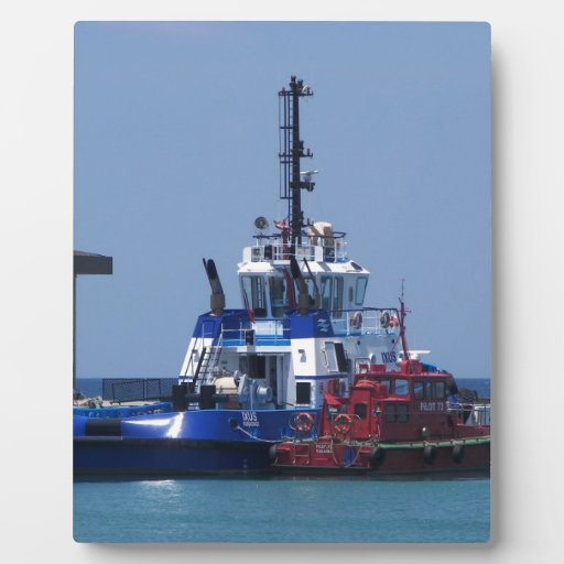 Tug Boat And Pilot Boat Photo Plaque