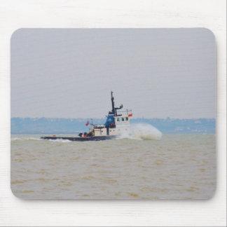 Tug Boat Battling Wind And Tide Mousepads