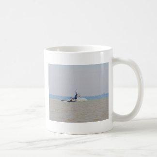 Tug Boat Battling Wind And Tide Mug
