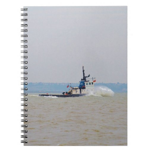Tug Boat Battling Wind And Tide Note Books