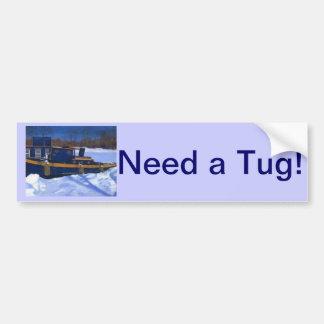 Tug Boat Car Bumper Sticker