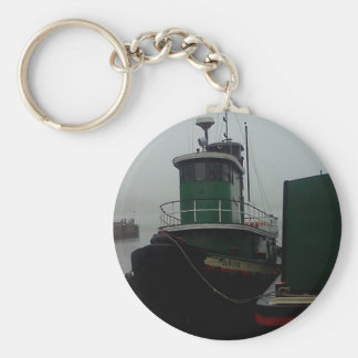 Tug Boat Foggy Day in Philly Key Ring