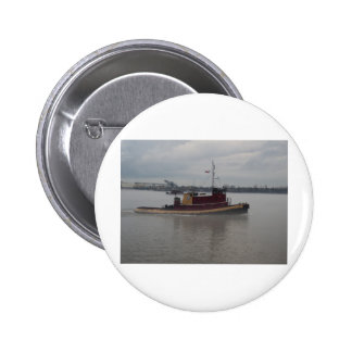 Tug Boat in the Fog Pinback Buttons