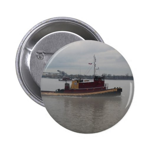 Tug Boat in the Fog Buttons
