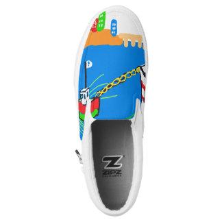Tug Boat Slip on Cartoon Sneakers