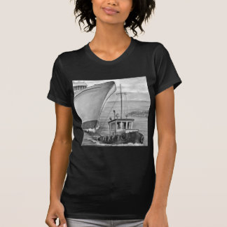 Tug Boat Towing Cruise Ship Tshirts
