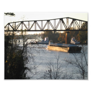 Tug Boats On The Black Warrior River Photo Print