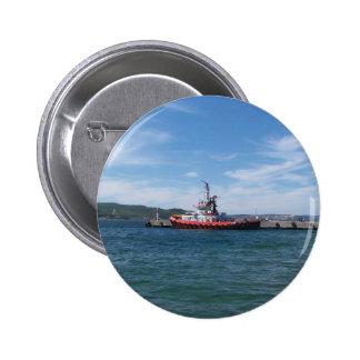 Tug In Harbor Pin