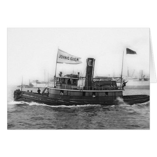 Tug John G. Olsen Card
