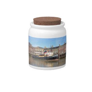 Tug Kingston Ceramic Candy Jar