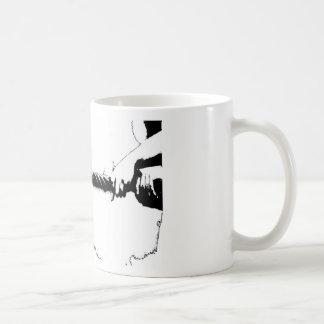 Tug of war basic white mug