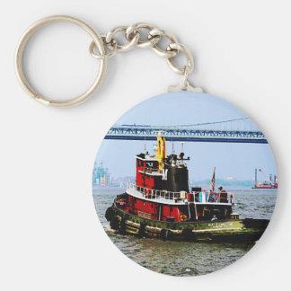 Tugboat at Penn's Land Philadelphia, PA Key Ring