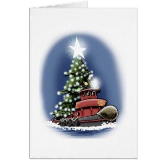Tugboat Christmas card