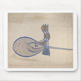Tughra (Official Signature) of Sultan Süleiman Mouse Pad
