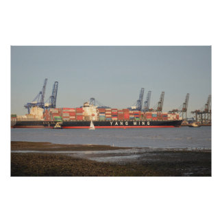 Tugs Assisting Ship Large Poster