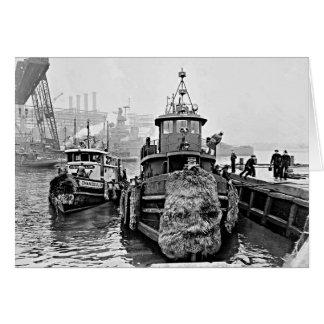 Tugs at Brooklyn Navy Yard Greeting Card