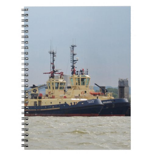 Tugs Cecilia and Brunel Spiral Notebook