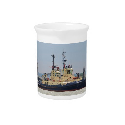 Tugs Cecilia and Brunel Beverage Pitcher