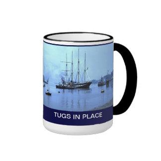 Tugs in place for TS Arethusa Coffee Mug